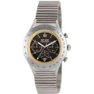 【送料無料】腕時計 ヒップホップアルミニウムクロノゴールドorologio uomo hip hop aluminium hwu0733 chrono bracciale alluminio gold 42mm