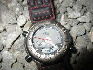 【送料無料】腕時計 キャメルトロフィークロノグラフクオーツアナログデジタルアドベンチャーウォッチcamel trophy chronograph adventure watch 100 m quartz analog digital 42 mm 90s