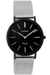 【送料無料】腕時計 レディースビンテージシルバーブラックウォッチ