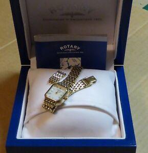 【送料無料】腕時計 ボックスペーパーロータリーウォッチrotary watch with boxpapers, working order, some wear