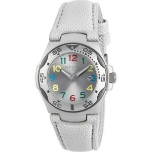 【送料無料】腕時計 ドナシルバーメートルorologio donna breil tribe ice ew0293 pelle tessuto bianco alluminio silver 50mt