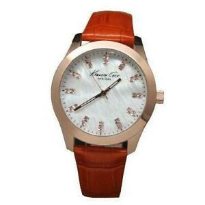 【送料無料】腕時計 ケネス#オレンジステンレススチールケースkenneth cole women039;s 39mm orange leather stainless steel case watch kcw2023