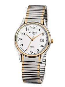 【送料無料】腕時計 アナログステンレススチールゴールドシルバーregent herrenuhr f472 analog edelstahl gold,silber