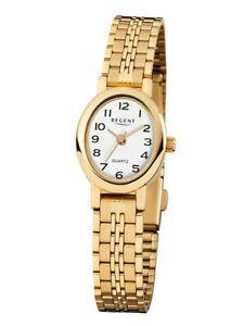 【送料無料】腕時計 リージェントレディースアナログステンレススチールゴールドウォッチregent damenuhr f394 analog edelstahl gold