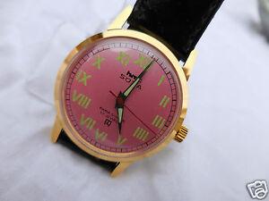 【送料無料】腕時計 ジョリモデルローズメタルhmt sona 0231 mecanique,joli model feminin cadran vieux rose metal neuf,17 rubis