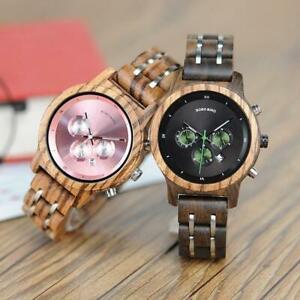 【送料無料】腕時計 ボボメタルストラップクロノグラフbobo bird wp18 wooden watches for women luxury wood metal strap chronograph date