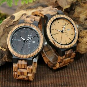 【送料無料】腕時計 ボボクォーツムーブメントカレンダーbobo bird lo2612 men wristwatches quartz movement complete calendar watch w