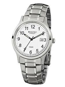 【送料無料】腕時計 アナログステンレススチールシルバーregent herrenuhr f775 analog edelstahl silber