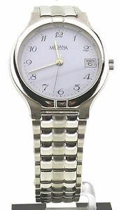 【送料無料】腕時計 ロンボクロッジバーレジストスチールケースクォーツmedana, 3 bar water resist, herrenuhr, stahlgehuse, quarzuhr