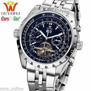【送料無料】腕時計 orologio automatico ouyawei 1032c movimento meccanico fondo nero multifunzione