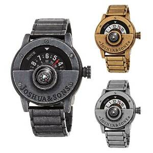 【送料無料】腕時計 メンズジョシュアクォーツアンティークコンパスブレスレットmens joshua amp; sons jx139 quartz antique brushed compass bracelet watch