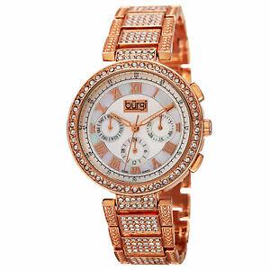 【送料無料】腕時計 バールスイスクリスタルベゼルブレスレット womens burgi bur123rg swiss multifunction crystal bezel amp; bracelet watch