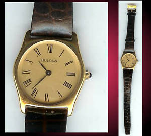 【送料無料】腕時計 ビンテージ#ゴールドトーンベゼルウォッチvintage women039;s bulova watch with gold tone bezel nos