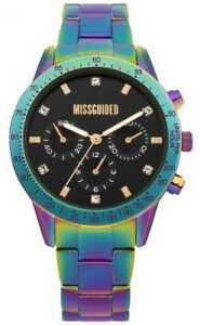 【送料無料】腕時計 ガイドレディースマルチカラーステンレススチールウォッチmissguided ladies multicolour stainless steel mg004upm watch