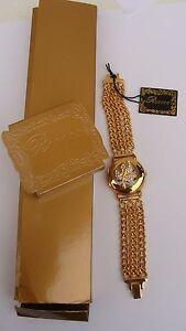【送料無料】腕時計 ビンテージリュックロッコプラークブレスレットプラークvintage montre luc desroche rocco plaqu or strass, montre bracelet en plaqu or