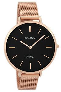 【送料無料】腕時計 レディースビンテージローズゴールドブラックウォッチ
