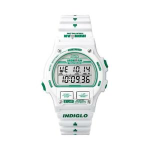 【送料無料】腕時計 ラップデジタルシリコーンビアンコバードメートルorologio timex ironman 8lap t5k838 digitale silicone bianco verde sveglia 100mt