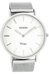 【送料無料】腕時計 ビンテージメンズウォッチホワイトシルバー