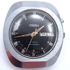【送料無料】腕時計 ビンテージソスラソ#vintage soviet slava automatic watch, day amp; date, ussr 80s vgc *us seller* 564