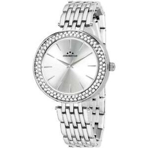 【送料無料】腕時計 ドナクロノスターマジェスティシルバースワロフスキーorologio donna chronostar majesty r3753272502 bracciale acciaio silver swarovski
