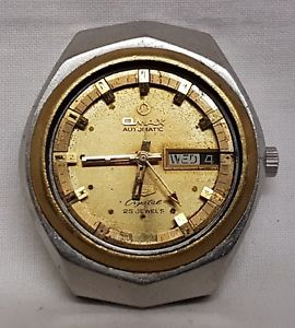 【送料無料】腕時計 ビンテージ#スイスvintage omax 25 jewels automatic men039;s wrist watch, swiss made, mod 3531g