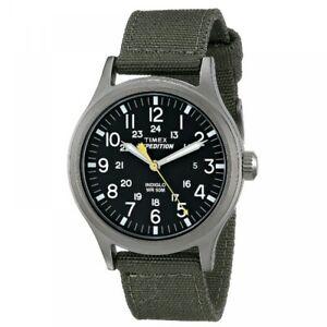 【送料無料】腕時計 ナイロンストラップスカウトウォッチtimex t49961 expedition scout watch with green nylon strap