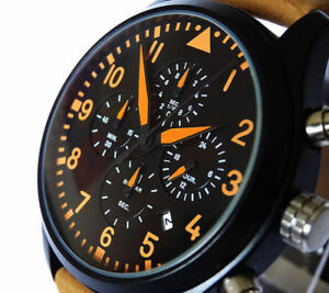 【送料無料】腕時計 ケースクォーツクロノグラフパイロット