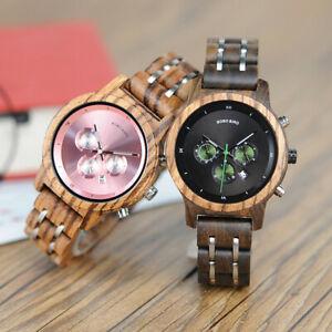 【送料無料】腕時計 ボボクオーツクロノグラフbobo bird luxury chronograph wooden watches quartz gifts for her lady wife women