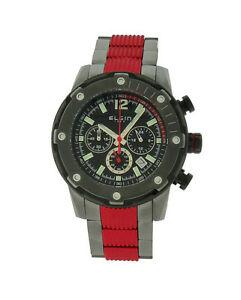 【送料無料】腕時計 メンズラウンドレッドブラッククロノグラフアナログウォッチ