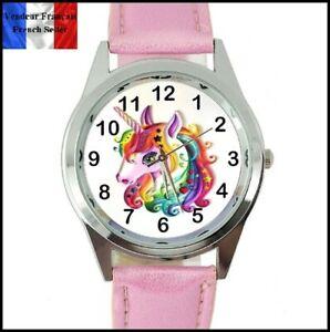 【送料無料】腕時計 ブレスレットユニコーンmontre quartz neuve bracelet cuir  watch  licorne unicorn