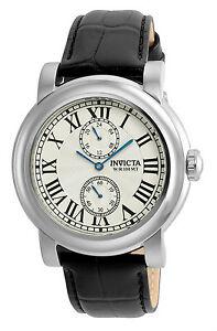 【送料無料】腕時計 メンズラウンドシルバーアナログローマウォッチinvicta 22255 mens round silver tone analog 12 amp; 24 hr numeral roman watch