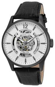 【送料無料】腕時計 オブジェメンズラウンドホワイトアナログレザーウォッチinvicta objet d art 22597 mens round white automatic analog leather watch