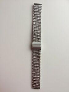 【送料無料】腕時計 クラスプブレスレットメッシュステンレススチールbracelet mesh open safety clasp extra long 18mm stainless steel replacement