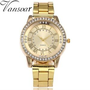 【送料無料】腕時計 ラインストーンカジュアルウォッチvansvar gold watch luxury women dress rhinestone quartz watch casual women s