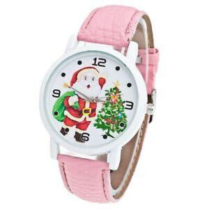 【送料無料】腕時計 ファッションクリスマスサンタクロースパターンレザーfashion men women wristwatch christmas santa claus pattern watches pu leather