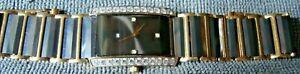 【送料無料】腕時計 ブラックゴールドタングステンレディースバッテリー