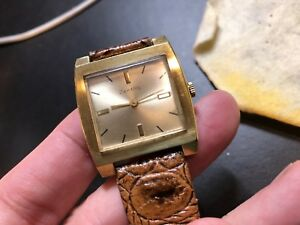 【送料無料】腕時計 ビンテージハンドスイスvintage zentra gold plated hand winding as1526 swiss made 1970s