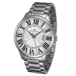 【送料無料】腕時計 シリーズステンレススチールウォッチrougois madison series stainless steel watch