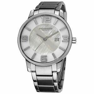 【送料無料】腕時計 メンズスリムスイスクオーツステンレススチールブレスレット akribos xxiv ak566ss mens slim stainless steel swiss quartz bracelet watch