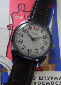 【送料無料】腕時計 #キャリバーセントピータースバーグraketa 034;red 12034; montre mcanique calibre 2610 urss saintpetersbourg 1970