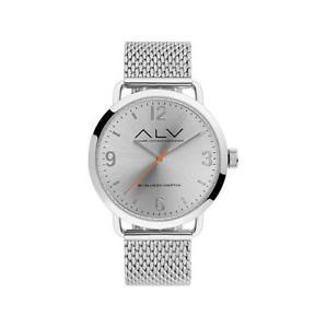 【送料無料】腕時計 orologio uomo alv alviero martini alv0068 acciaio silver maglia mesh milanese