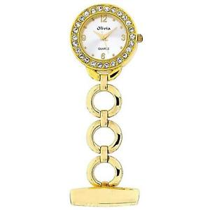 【送料無料】腕時計 コレクションゴールドトーンフォブプロラウンドリンクthe olivia collection gold tone round open link professional fob watch toc72