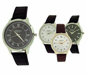 【送料無料】腕時計 メンズストラップアナログウォッチreflex mens gents boys analogue pu strap watch gift for him