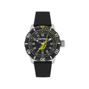 【送料無料】腕時計 orologio nautica uomo nsr100 nai08513g silicone oversize nero sportivo sub 50mt