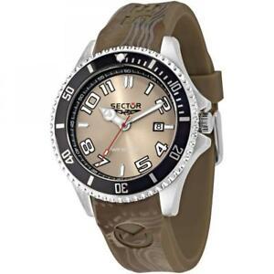 【送料無料】腕時計 セクターシリコーンサブメートルorologio uomo sector 230 r3251161026 silicone marrone nero sub 100mt