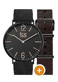 【送料無料】腕時計 レディースアイスシティブラックレザーブラウンナイロンストラップウォッチウォッチ