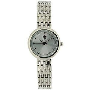 【送料無料】腕時計 realm ladies round quartz analogue silver tone bracelet strap watch rb64l