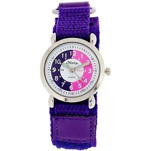 激安商品 【送料無料】腕時計 コレクションパープルthe olivia time fasten collection time teacher olivia purple easy fasten watch telling time award, PCボンバー:f4c79ffa --- holger-marschall.info