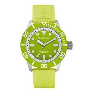 【送料無料】腕時計 ノーティカシリコーンバードnautica orologio uomo a09605g silicone verde indici luminescenti wr100mt zk