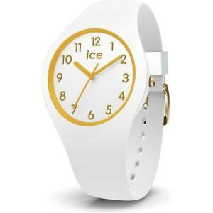 【送料無料】腕時計 オロロジオシリコンビアンコゴールドウォッチorologio ice watch glam ic014759 small 34mm silicone bianco gold dorato